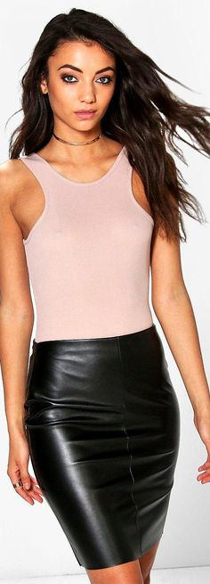 Tall Millie Leather Look Mini Skirt - Skirts  - Street Style, Fashion Looks And Outfit Ideas For Spring And Summer 2017