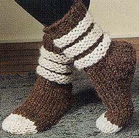 Scrunchy, Slouchy Slipper Socks