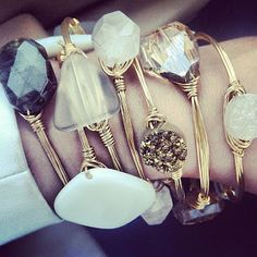 I have some of these bracelets and I get compliments on them all the time.  Sundresses and Smiles: Bourbon & Boweties