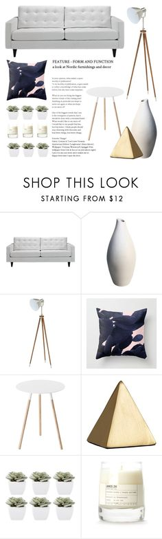 Living Room - White by artbyjwp on Polyvore featuring interior, interiors, interior design, home, home decor, interior decorating, Yamazaki, Abigail Ahern, Le Labo and living room