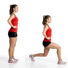 Lunges. Hate this exercise, but I love the results. Do 3 sets of 10 reps daily. Get it girl.