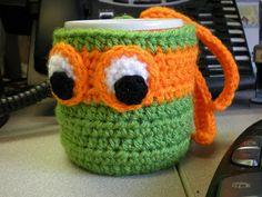 TMNT Coffee Cozie Free Pattern