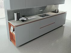Design linear fitted kitchen AK_05 by Arrital | design Franco Driusso