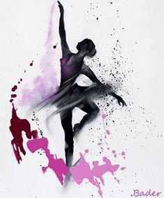 Expressive Movement Paintings by Kuwaiti Artist Bader Almutawa Ballerina Painting, Ballerina Art, Ballet Art, Ballet Drawings, Art Drawings, Dancer Tattoo, Dance Paintings, Dance Pictures, Dance Photography
