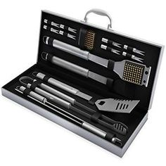Home-Complete BBQ Grill Tool Set- 16 Piece Stainless Steel Barbecue Grilling . - Home-Complete BBQ Grill Tool Set- 16 Piece Stainless Steel Barbecue Grilling … Home-Complete BBQ - Stainless Steel Bbq Grill, Stainless Steel Utensils, Bbq Tool Set, Bbq Set, Barbecue Grill, Propane Gas Grill, Grill Accessories, Kitchen Accessories, Best Bbq