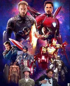 Two Backbone of Marvel Cenematic Universe #Captain America #Ironman