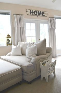 Farmhouse Style Oversized Chair and a Half