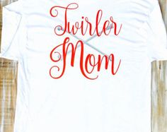 Custom Baton Twirling Monogram Vinyl Shirt by CutesyTDesigns