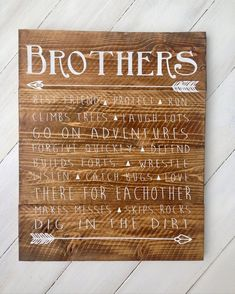 Brothers wood sign boys room sign boys room decor rustic boys room sign shared boys room decor The post Brothers wood sign boys room sign boys room decor rustic boys room sign shared boys room decor appeared first on Children's Room. Shared Boys Rooms, Shared Bedrooms, Boy Rooms, Kids Rooms, Room Boys, Boys Bedroom Decor, Baby Room Decor, Kid Decor, Bedroom Green