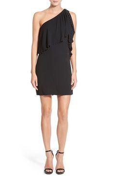 Ella Moss 'Stella' One Shoulder Crepe Dress