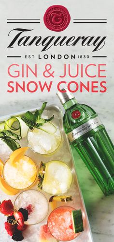 Up your summer hosting game with icy snow cones—the perfect cocktail for any get-together. Whether you're planning an outdoor party, BBQ, or casual hangout, this refreshing recipe will elevate your Gin & Juice with a festive twist. To mix up this simple slushie, Mix Tanqueray TEN with your favorite fresh juice and pour over crushed ice. Cheers!