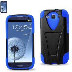 $8.99 Reiko Heavy Duty Stand Hybrid Case For Samsung Galaxy S III I9300