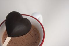 Make Hot Chocolate on a Stick!  Let dissolve in warm milk.