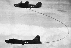 jb-17g | WW2 AIR-TO-AIR REFUELING EXPERIMENT, B-24 TO B-17