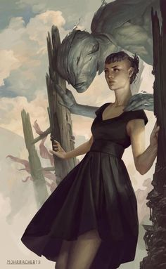 The beautiful mystical dark works of fantasy artist and illustrator Peter Mohrbacher. We have a selection of incredible illustrations by the artist. Art And Illustration, Character Illustration, Character Inspiration, Character Art, Art Zombie, Bd Comics, Image Manga, Art Graphique, Sci Fi Art