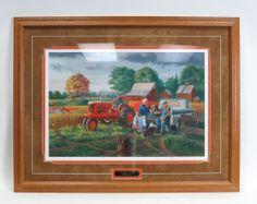 Allis Chalmers `Grandpa`s Farm` 35 x 27 Framed Print by Charles Freitag