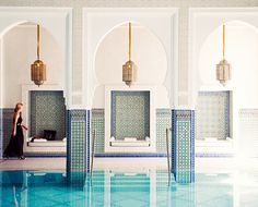 Swimming pool with gorgeous tile designs