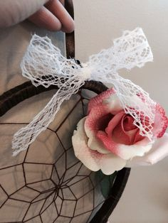 Pheobe's rose & lace dream catcher.