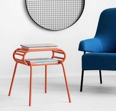 WALLY stolik pomocnik w stylu bauhaus polski design Mebloscenka Cafe Tables, Bauhaus, Chair, Furniture, Design, Home Decor, Coffee Tables, Decoration Home, Room Decor