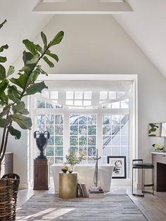Wyeth Ray Interiors is an award winning interior design and decorating firm based in Atlanta, Ga. Timeless Design, Master Bathroom, Oversized Mirror, Tub, Gallery Wall, Interior Design, Baths, Terrace, Interiors