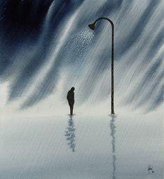Walk in Rain PRINT by nakedpastor on Etsy, $25.00