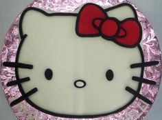 Hello Kitty birthday cake - face.. for Katie..hopefully it will work out