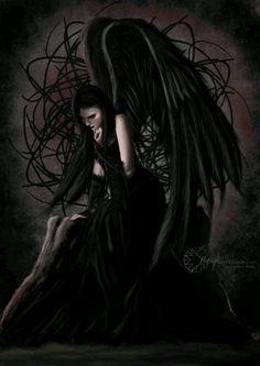 """ Angel of Sadness"" by Maria Nikolopoulou dark angel Goth Gothic"