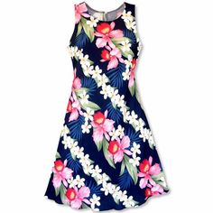 202690488ebd Handmade in Hawaii, this so-soft floral dress features a  beautifully-fitting classic
