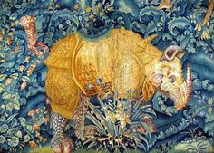 RHINOCEROS TAPESTRY in KRONBORG CASTLE