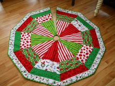 Grinch Quilted Tree Skirt
