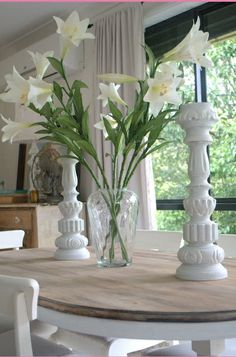 flowers on the dining table