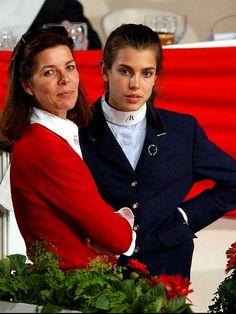 Princesse Caroline et sa fille Charlotte Casiraghi