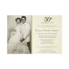 Elegant 50th Wedding Anniversary Party Invitations! For my grandma and grandpas!!!