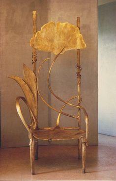 Claude Lalanne Le Trône de Pauline Chair - 1990 - Bronze - 201x108x80cm. - Art Nouveau - @~ Mlle