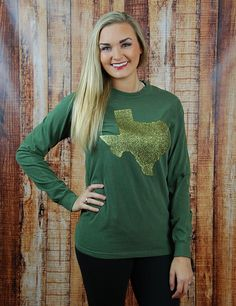 Glittery Texas top! You know you love Baylor and the Lone Star State!
