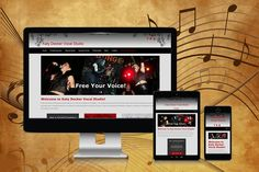 Mobile Responsive Vocal Studio Website  This website was created for a vocal coach's private studio.  This mobile responsive WordPress Website has a clean feminine design, sliding header with custom images, social integration and more.