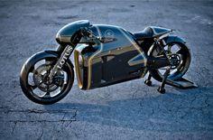 Lotus vient de présenter au monde entier sa toute première moto la Lotus C-01, produite seulement à 100 exemplaires.  La prestigieuse marque automobile s'est associée à l'équipe Kodewa et le groupe Holzer pour sortir ce petit bijou. Nous devons le design rétro-futuriste au designer Daniel Simon.  La Lotus C-01 a un un bicylindre en V à 75° de 1 195 cm3 qui devrait développer environ 200 chevaux, elle est un mélange de fibre de carbone, de titane et d'acier pour la partie-cycle.