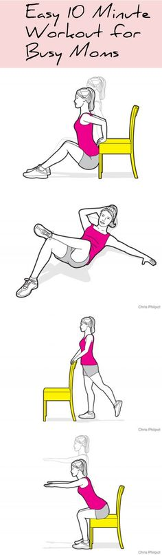 Got 10 minutes? We've got the best home workout for busy moms on the go! Check it out and RE-PIN...