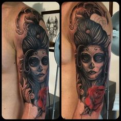 Tattoo in progress #catrina #draw #rose