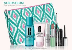 Bonus time at Nordstrom (online and instores) is here. Qualifier is $28 for the main gift, but there are 3 more step up gifts available with bigger purchases. http://cliniquebonus.org/clinique-bonus-time/