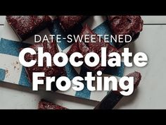 Creamy, rich vegan chocolate frosting made with 5 simple ingredients! Sweetened with dates, infused with almond butter, and perfect for desserts! Vegan Chocolate Frosting, Bakers Chocolate, Gluten Free Chocolate, Healthy Chocolate, Dairy Free Buttercream, Vegan Cream Cheese, Baker Recipes, Sweets Cake, Vegan Sweets