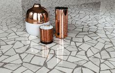 Marvel Terrazzo Carrara Pol 60 - An Italian marble look tile, based on the look of Venetian terrazzo Marvel Gems, Marble Look Tile, Carrara Marble, Hallway Flooring, Terrazzo Flooring, Italian Marble, Italian Tiles, Concorde, Gemstones