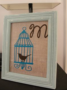 Vinyl on burlap in a cute frame...Imperfectly Beautiful: Cricut Tips and Tricks