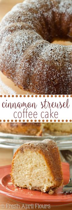 Cinnamon Streusel Coffee Cake: Classic coffee cake with a buttery ...