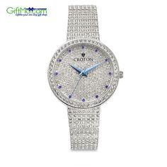 Beautiful Croton Women's Balliamo Pave Crystal Blue Display Watch