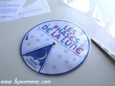 Téléchargez GRATUITEMENT la roue des phases de la lune pour apprendre et suivre son cycle avec vos enfants pendant le mois de Ramadan.