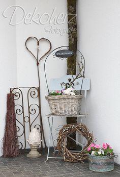 Frühlingsdeko Haustür