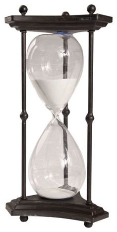 "1 Hr. Hourglass Sand Timer, Stand White 16.5"" - Contemporary - Decorative Objects And Figurines - by Lighting New York"