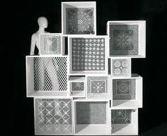 cajas puntilla Cómo decorar cubos de exposición en los nuevos escaparates