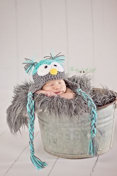PATTERN Crochet Owl Hat Pattern 3 Sizes by LionandLambPhotos